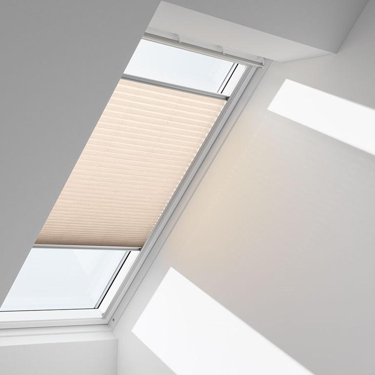 velux blinds for decoration and light adjustment. Black Bedroom Furniture Sets. Home Design Ideas