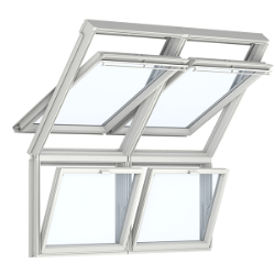 VELUX Sloping and vertical combination roof windows